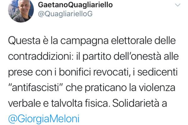solidarietà meloni_gaetano quagliariello